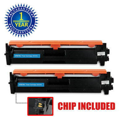 2PK CF217A 17A Toner Cartridge + Chip For HP LaserJet M102 M102a M130fn (102 Black Toner)