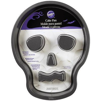 Wilton SKULL Head Cake Pan w/FLUTES Halloween Skeleton, - Skull Cake Pan