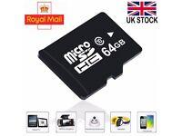 64GB Class 10 PREMIUM Micro SD Card + Adapter TF SDHC Flash Storage Memory UK