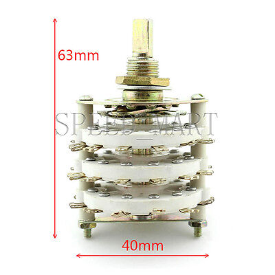 High-power Ceramic Rotary Switch 3 Pole 11 Position For Change Voice Frequency