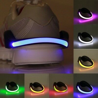 Glow Lights For Parties ((PAIR) LED BATTERY SHOE glow Safety Light CLIPS for running walking dance)