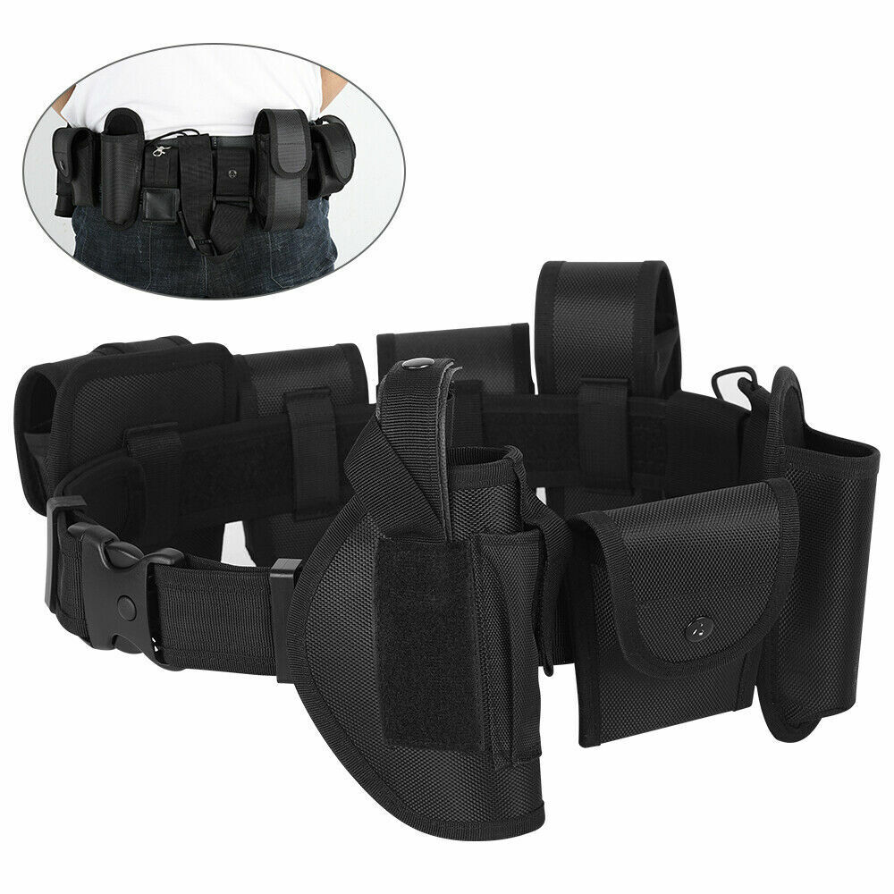 10-in-1 Police Security Guard Modular Enforcement Equipment Duty Belt Tactical Business & Industrial