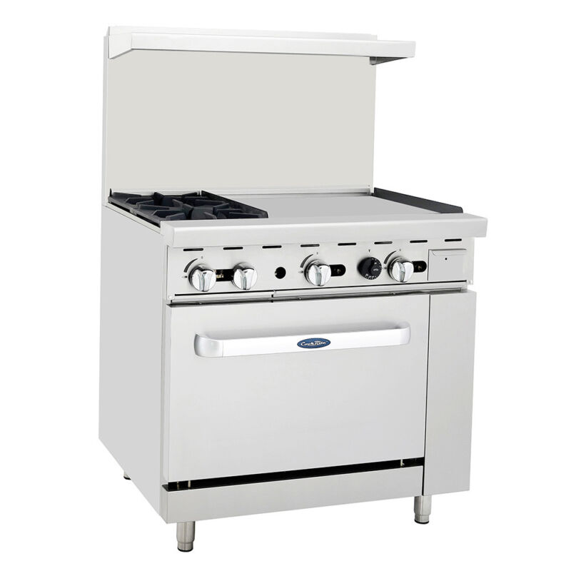 "Atosa Ato-2b24g Cookrite 36"" (2) Burner Gas Range W/ Oven"