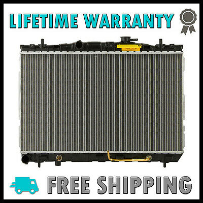 New Radiator For Hyundai Elantra 01-06 Tiburon 03-08 L4 V6 Lifetime (01 Hyundai Tiburon Radiator)