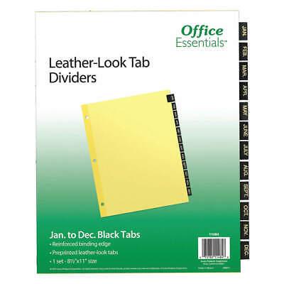 Office Essentials 7278211484 Binder Dividerpreprinted Tabsbrown