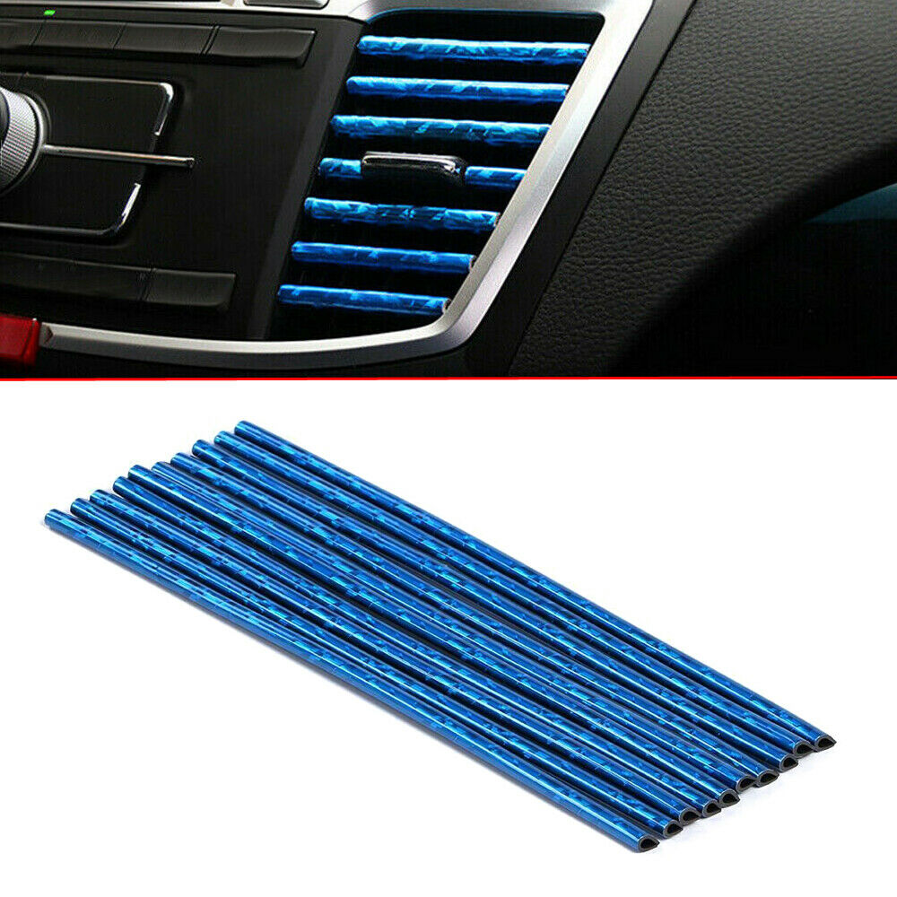 ICE BLUE Color Auto Car Accessories Air Conditioner Air Outlet Decoration Strip