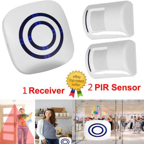 Wireless Sensor Motion Detector Doorbell Door Chime Set Secu