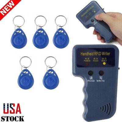 Handheld RFID Backup Copier Reader Writer Duplicator 125KHZ + 5PCS ID Tags Set