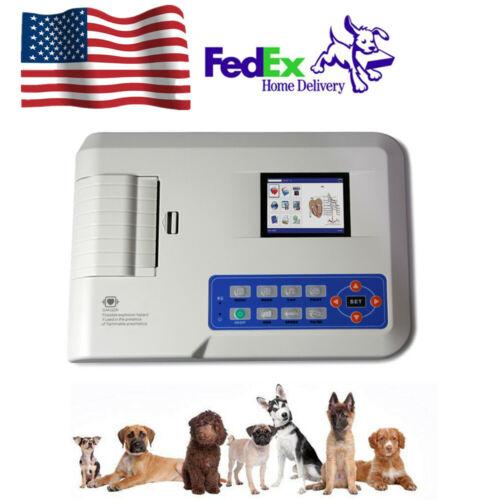 CONTEC ECG300G Digital 3 Channel electrocardiograph Veterinary ECG Machine PC SW