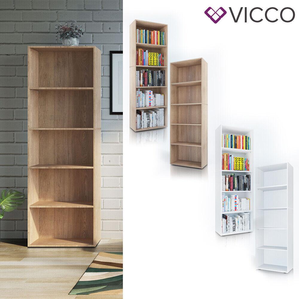 VICCO Bücherregal EASY XXL Standegal Wandregal Aktenregal Schrank Büro