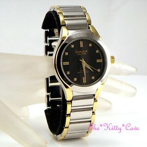 OMAX-Waterproof-2tone-Rhodium-Gold-PLT-Gents-Swiss-Seiko-Movement-Watch-HBJ715