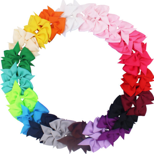 40 Pcs Lots Boutique Baby Girls Hair Bows Kids Alligator Hair Clips In Pairs