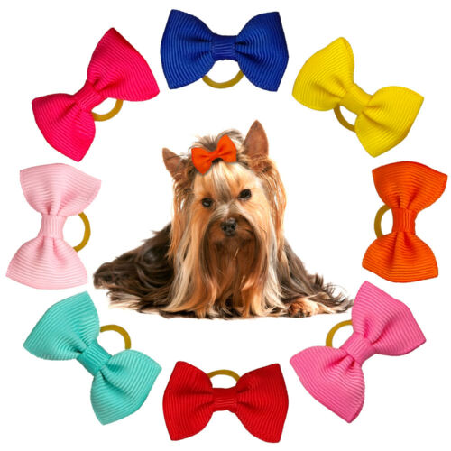 50100pcs Puppy Small Dog Hair Bows Yorkie Grooming Accessories Free