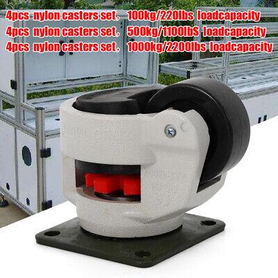 4pc Adjustable Industrial Casters Retractable Leveling Caster Load 500kg 1000kg
