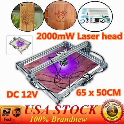 50x65cm Cnc Laser Engraving Machine 2axis Dc 12v Diy Engraver Desktop Us Stock