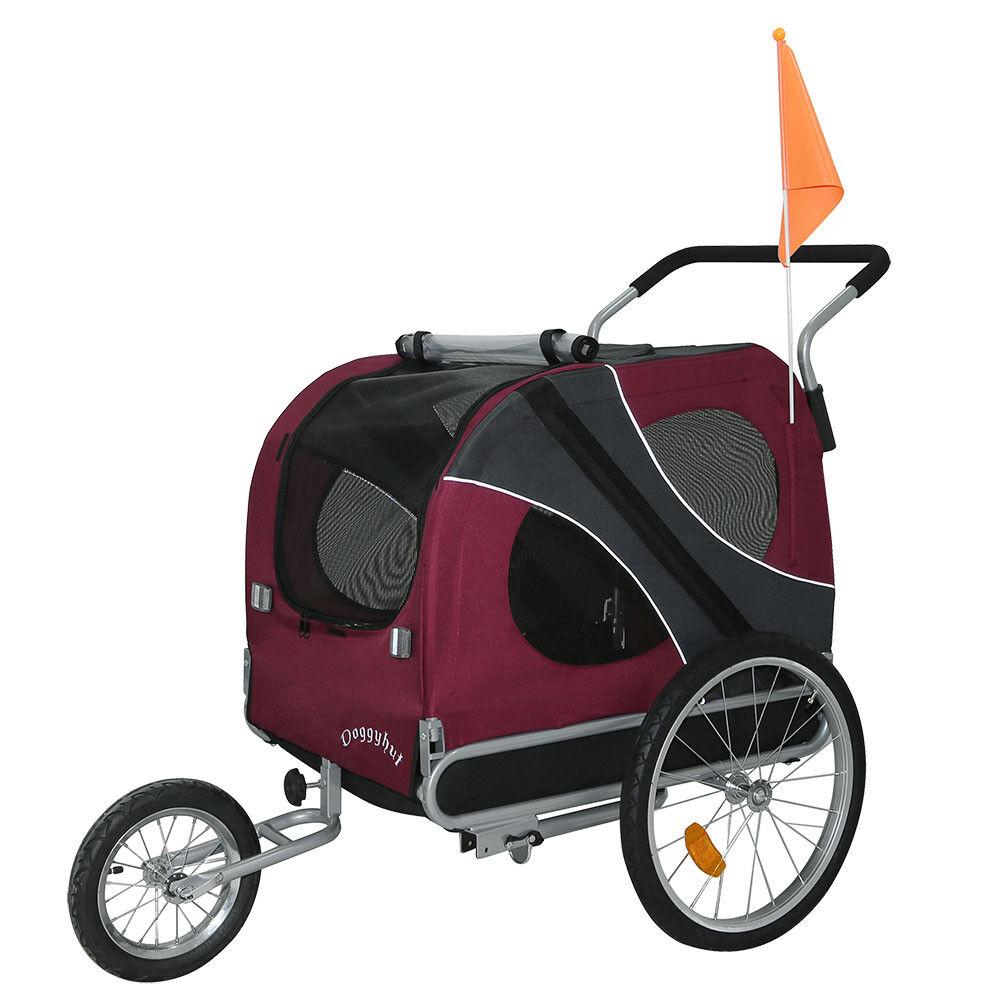 Karlie Doggy Liner Fahrrad Hunde Anhänger Tier Transport Schwarz Grau Jogger