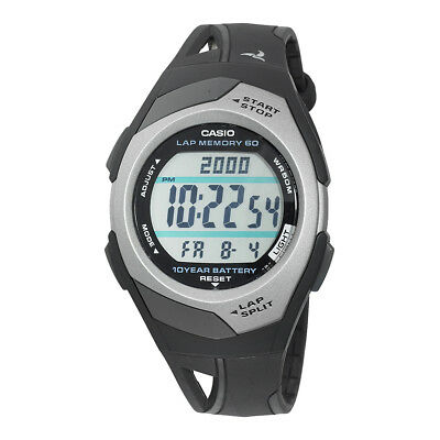 300 Black Resin Watch - Casio Women's Runner Eco Friendly Digital Black Resin Band 35mm Watch STR300C-1V