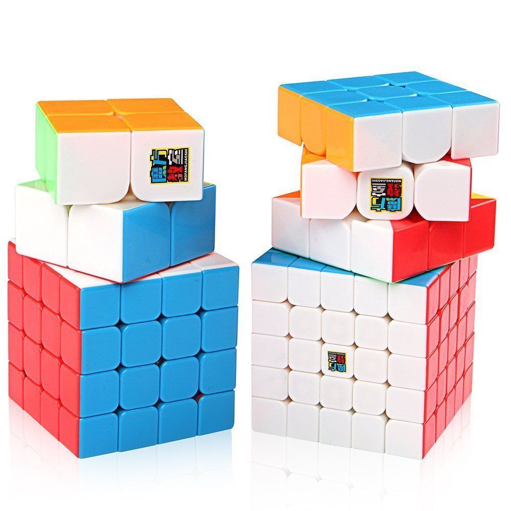 Moyu Speed Cube Bundle 2x2 3x3 4x4 5x5 Stickerless Mofangjiaoshi Rubik Mfjs Mofang Jiaoshi Mf4s Magic Sets