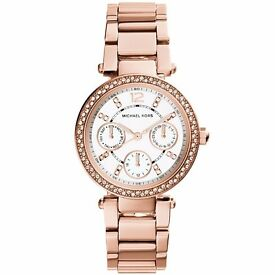 Brand New Michael Kors Ladies Rose Gold Watch MK5616