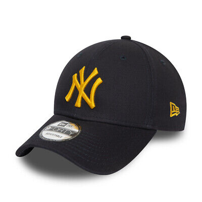 NEW ERA NEW YORK YANKEES BASEBALL CAP.9FORTY NAVY BLUE COTTON ESSENTIAL HAT S20