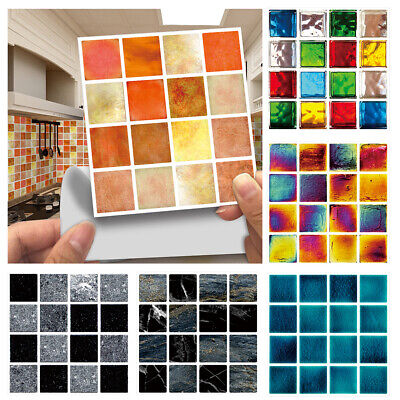 Home Decoration - 30X Kitchen Tile Stickers Bathroom Self-adhesive Wall Home Decor Mosaic Sticker*