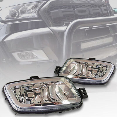 Fits Skoda FABIA Projector Cob LED Fog DRL Spot Lights Angel Eyes Pair