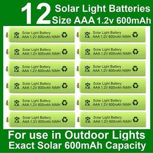 12 x aaa solar light batteries 1 2v 600mah nimh for outdoor garden lights uk ebay. Black Bedroom Furniture Sets. Home Design Ideas