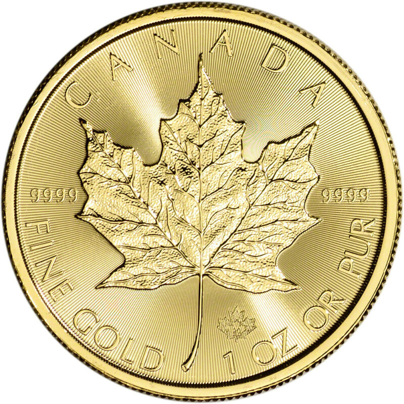 2020 Canada Gold Maple Leaf 1 oz $50 - BU