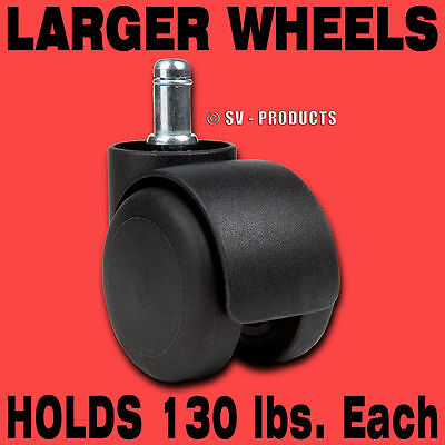 5 Office Chair Casters Soft Wheel Laminate Floor - 129