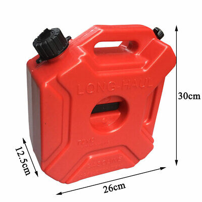 Portable Gas Can Plastic Fuel Tank Petrol Motorcycle Fuels Gasoline 1.3 Gallons
