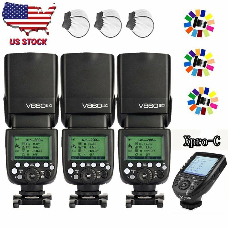 US Godox V860II-C 2.4G Wireless TTL Camera Flash + XPRO-C Trigger Set For Canon