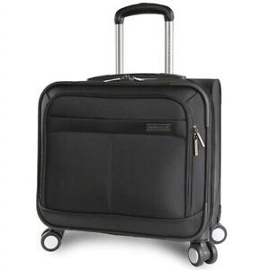 NEW Perry Ellis Wheeled Spinning Laptop Computer Business Hardshell Briefcase, Black Condtion: New