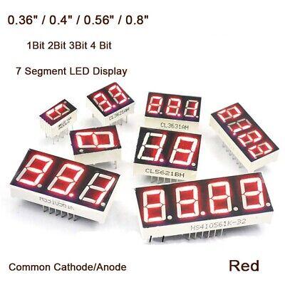 0.360.40.560.8 7 Segment Led Display Red Common Cathodeanode 1234 Bit