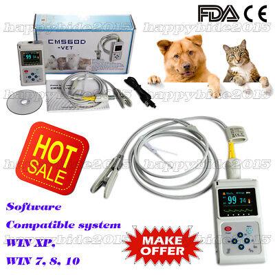 New Veterinary Cms60d Hand Held Pulse Oximetervet Tongue Spo2free Software