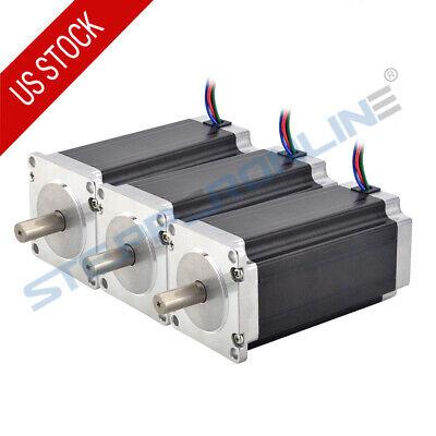 3pcs High Torque Nema 23 Stepper Motor 3nm425oz.in 4.2a 10mm Shaft 4-wire Cnc