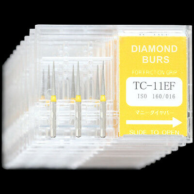 10 Boxes Tc-11ef Dental High Speed Handpiece Diamond Burs Mani Dia-burs Fg 1.6mm