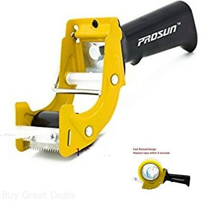 Prosun Fast Reload 2 Inch Tape Gun Dispenser Packing Packaging Sealing Cutter