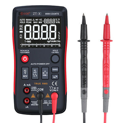 True-rms Digital Multimeter Acdc Voltage Ammeter Current Tester 9999 Counts