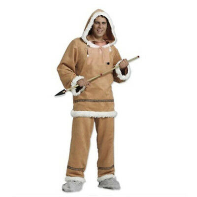 Eskimo Costume Male (Mens Male Inuit or Yupik Fancy Dress Costume Outfit)