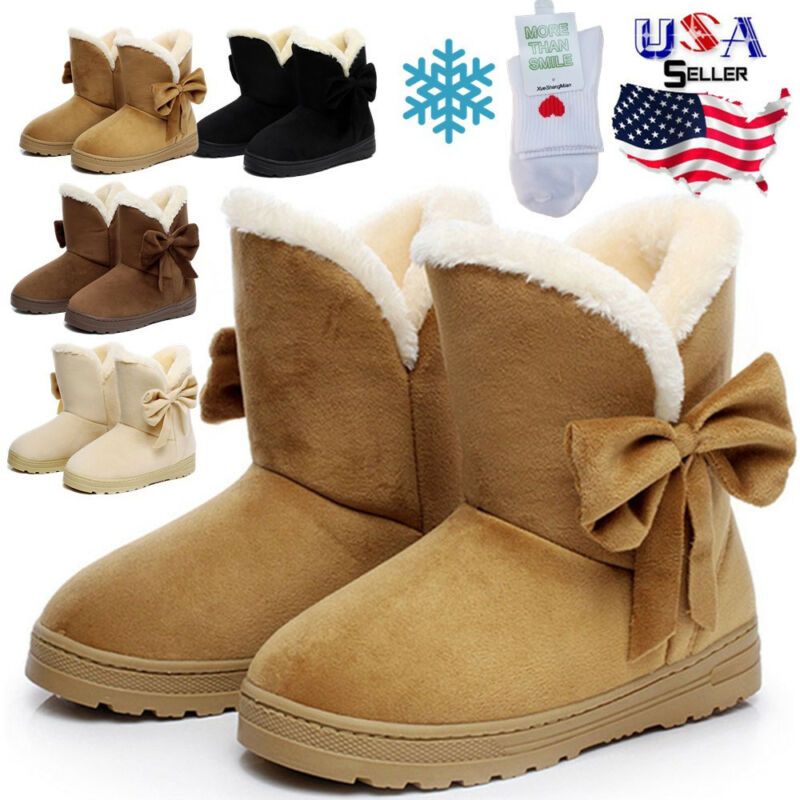 women s winter warm suede ankle snow