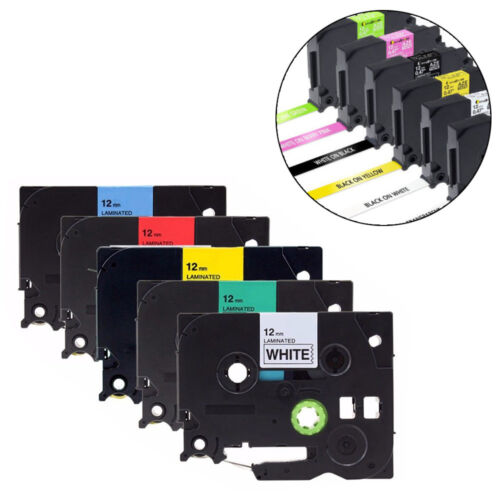 """1X TZ 631 TZe 631 TZ631 Black on Yellow Label Tape For Brother PT-3600 1//2/"""" 12MM"""