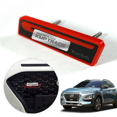 Front Radiator Grille Gt Logo Mini Emblem Point Badge Kit For Hyundai 2018 Kona