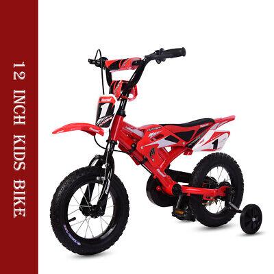 Kids Motorbike Bicycle Boys Girls Children Moto Bike w/Stabiliser 12 inch Wheel