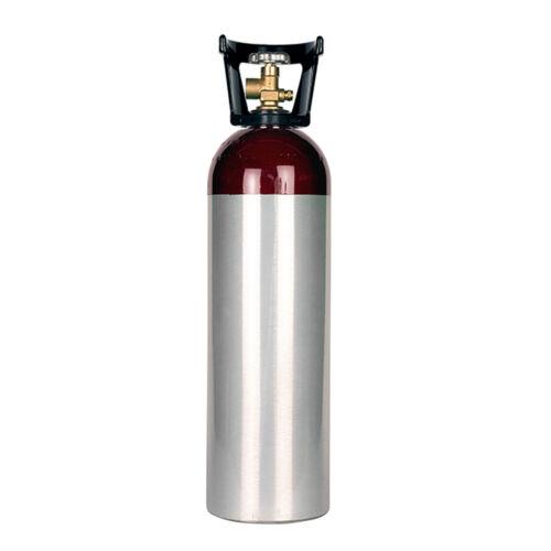 60 cu ft New Aluminum Nitrogen Cylinder - CGA580 Valve - With Handle - Welding
