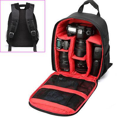 Shockproof Waterproof DSLR Backpack Camera Lens Case Bag For Canon Nikon Sony