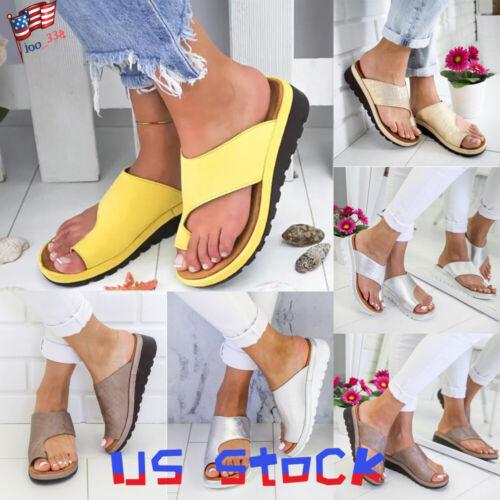Women Shoes Platform Toe Ring Slippers Sandals Comfy Ladies
