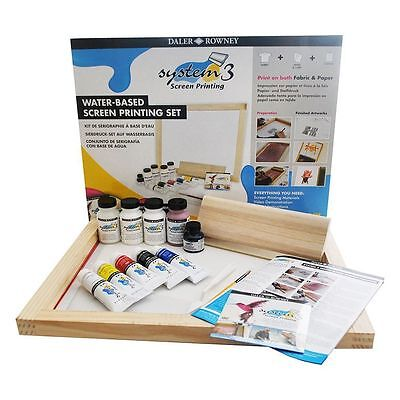 NEW Daler Rowney System 3 Screen Printing Set - Includes DVD