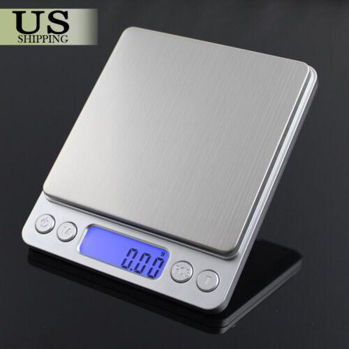 Mini Precision Digital Gram Jewelry Scale Kitchen Food Weigh Balance 3000g/0.1g