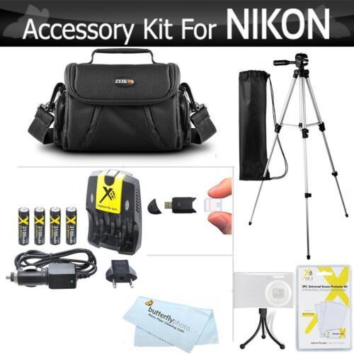 nikon coolpix digital camera charger tripod case