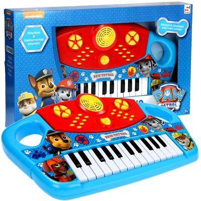 Kinder Keyboard Piano Soundmaschine mit Musik Aufnahme 25 Tasten PAW PATROL Neu